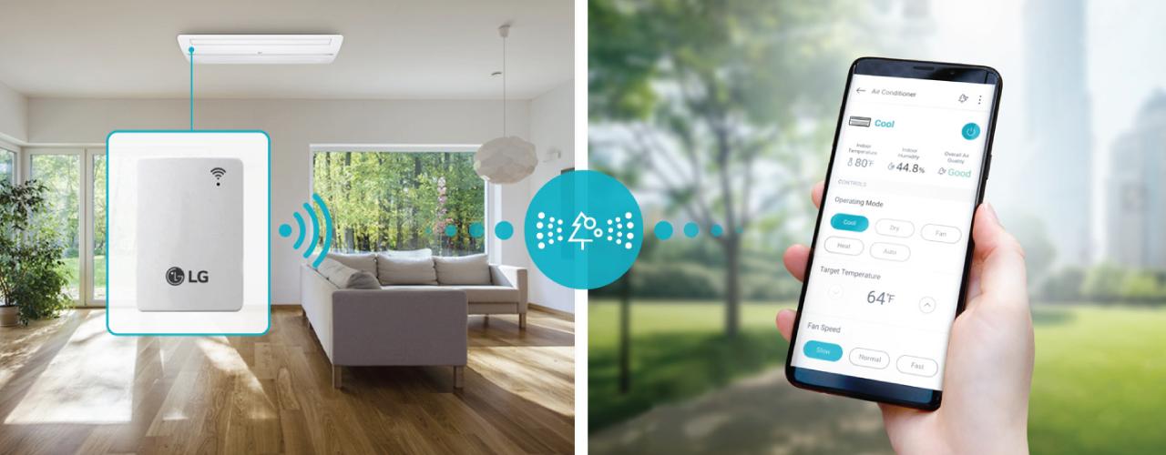 LG Multi-Split System - Ecovair HVAC Solutions Wi-Fi Remote Control with LG ThinQ™